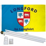Longford Ireland County 3' x 5' Polyester Flag, Pole and Mount