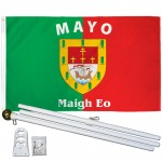 Mayo Ireland County 3' x 5' Polyester Flag, Pole and Mount