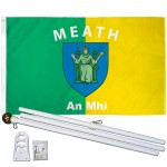 Meath Ireland County 3' x 5' Polyester Flag, Pole and Mount