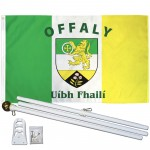 Offaly Ireland County 3' x 5' Polyester Flag, Pole and Mount