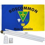 Roscommon Ireland County 3' x 5' Polyester Flag, Pole and Mount