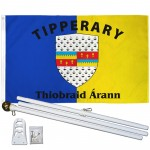 Tipperary Ireland County 3' x 5' Polyester Flag, Pole and Mount