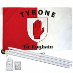 Tyrone Ireland County 3' x 5' Polyester Flag, Pole and Mount