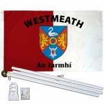 Westmeath Ireland County 3' x 5' Polyester Flag, Pole and Mount