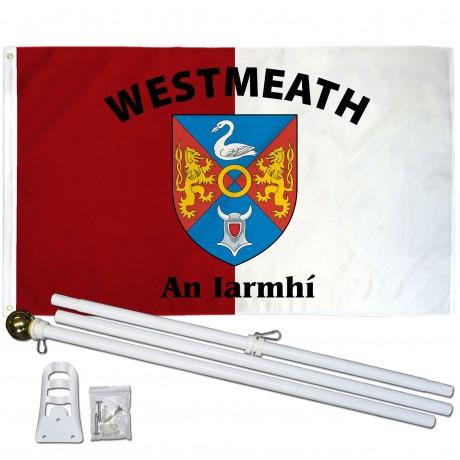WESTMEATH IRELAND COUNTY 3' x 5'  Flag, Pole And Mount.