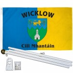 Wicklow Ireland County 3' x 5' Polyester Flag, Pole and Mount