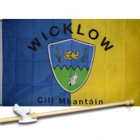 WICKLOW IRELAND COUNTY 3' x 5'  Flag, Pole And Mount.