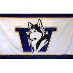 Washington Huskies White 3'x 5' College Flag