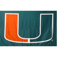 Miami Hurricanes Green 3'x 5' College Flag