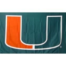 Miami Hurricanes Green 3'x 5' College Flag