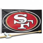 SAN  FRANCISCO 49ERS 3' x 5'  Flag, Pole And Mount.