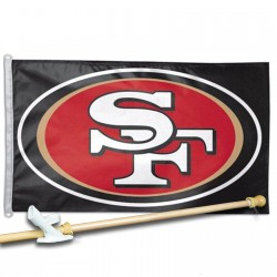 SAN  FRANCISCO 49ERS 3' x 5'  Flag, Pole And Mount.