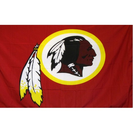 Washington Redskins Mascot 3' x 5' Polyester Flag