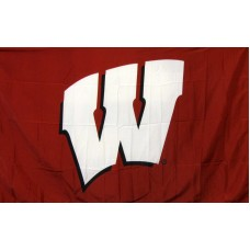 Wisconsin Badgers Logo 3'x 5' College Flag