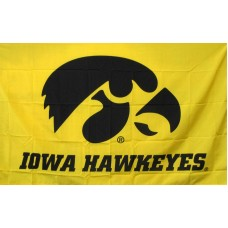 Iowa Hawkeyes Yellow 3'x 5' College Flag