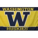 Washington Huskies Gold 3'x 5' College Flag