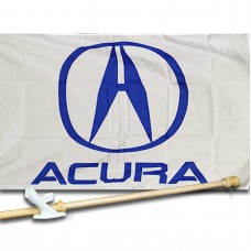 ACURA  2 1/2' X 3 1/2'   Flag, Pole And Mount.