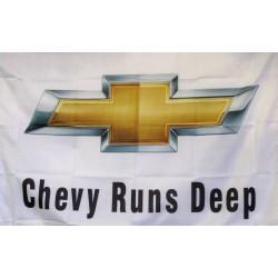 Chevy Runs Deep Logo Car Lot Flag