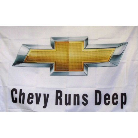 Chevy Runs Deep Logo Car Lot Flag