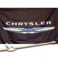 CHRYSLER  2 1/2' X 3 1/2'   Flag, Pole And Mount.