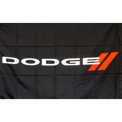 Dodge Black Logo Car Lot Flag