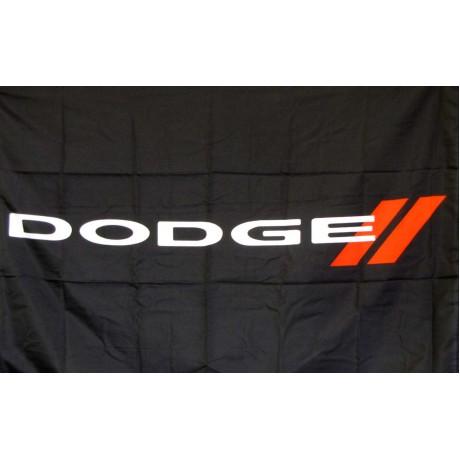 Dodge Black Logo Car Lot Flag
