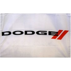 Dodge White Logo Car Lot Flag