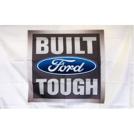 Built Ford Tough Car Lot Flag