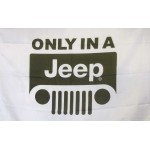 Only In A Jeep Car Lot Flag