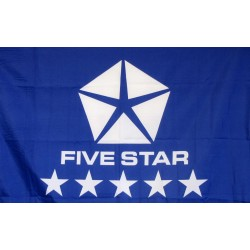 Five Star Blue Logo Car Lot Flag