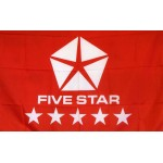 Five Star Red Logo Car Lot Flag