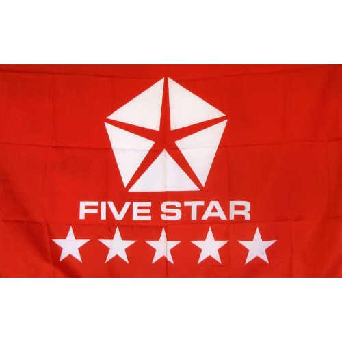 5 Star Automotive >> Five Star Red Logo Car Lot Flag