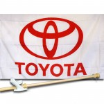 TOYOTA  2 1/2' X 3 1/2'   Flag, Pole And Mount.