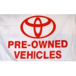 Toyota Pre-Owned Vehicles Car Lot Flag