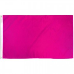 Solid Magenta 3' x 5' Polyester Flag