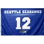 Seattle Seahawks 12th Man 3'x 5' NFL Flag