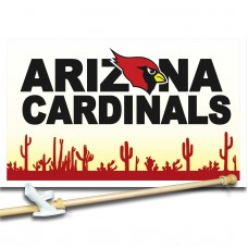 ARIZONA CARDINALS 3' x 5'  Flag, Pole And Mount.