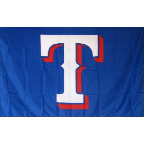 Texas Rangers T 3' x 5' Polyester Flag