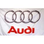Audi White 3' x 5' Polyester Flag