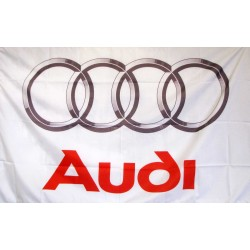 Audi 3'x 5' Automotive White Flag