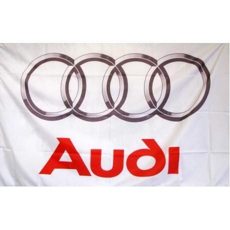 Audi 3'x 5' Automotive White Flag