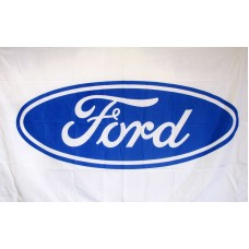 Ford White Automotive 3'x 5' Flag