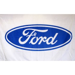 Ford White 3' x 5' Polyester Flag