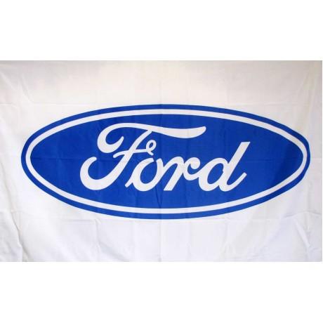 Ford White 3' x 5' Polyester Flag