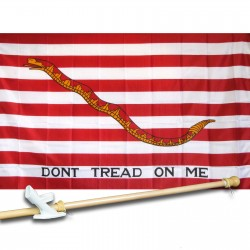 First Navy Jack 3' x5' Flag, Pole and Mount