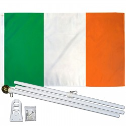 Ireland 2' x 3' Polyester Flag, Pole and Mount