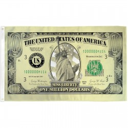 $1,000,000 Bill 3'x 5' Novelty Flag