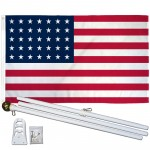 USA Historical 35 Star 3' x 5' Polyester Flag, Pole and Mount