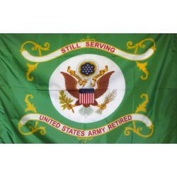 United States Army Retired Still Serving 3'x 4' Flag