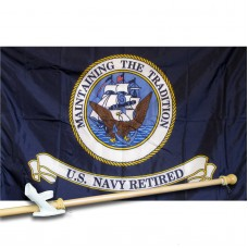United States Air Force 3' x 5' Nylon Flag, Pole and Mount